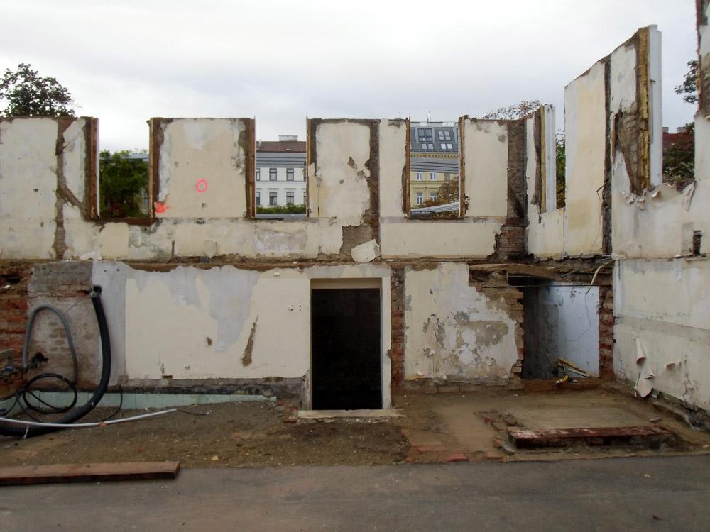 Die Ruine des ehemaligen Marktamts